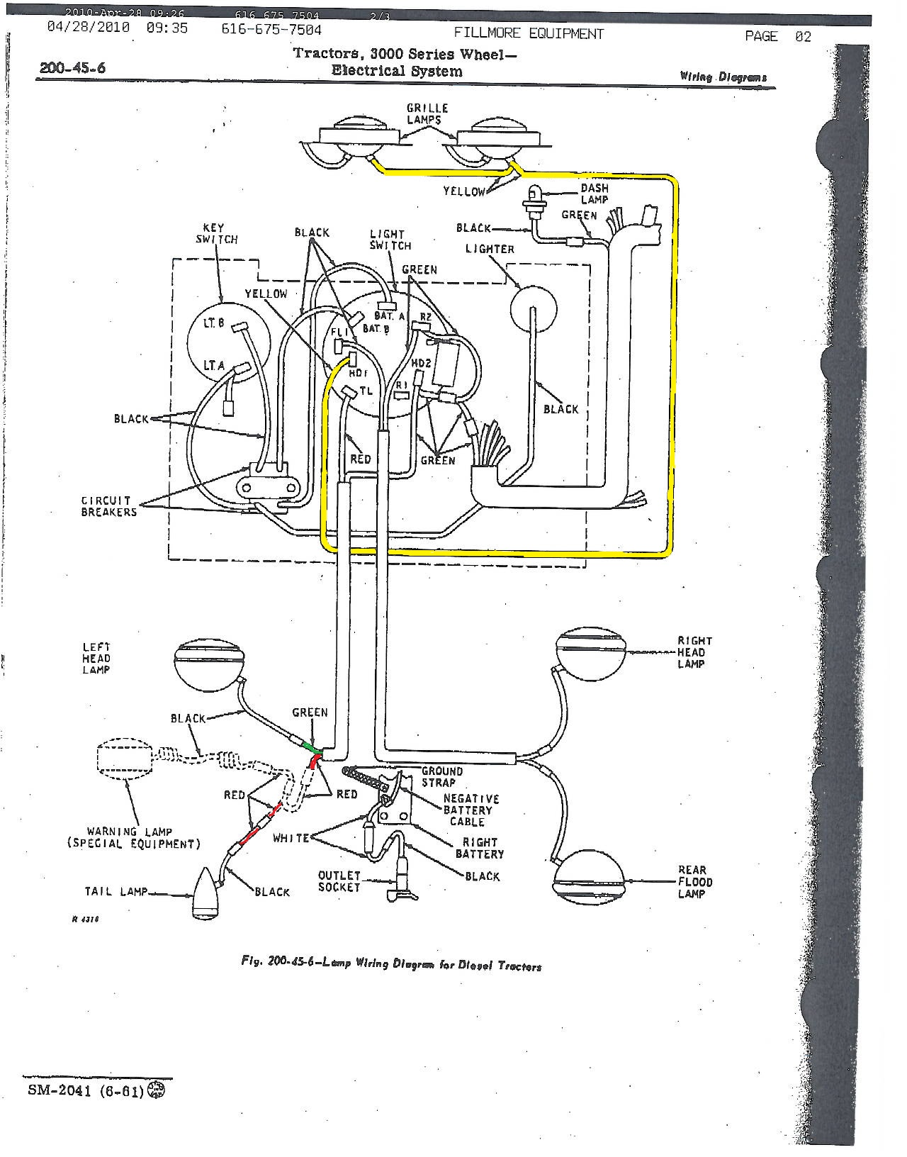 Jd 4430 Wiring Diagram Real 2520 John Deere 3010 30 Images Alternator 4440