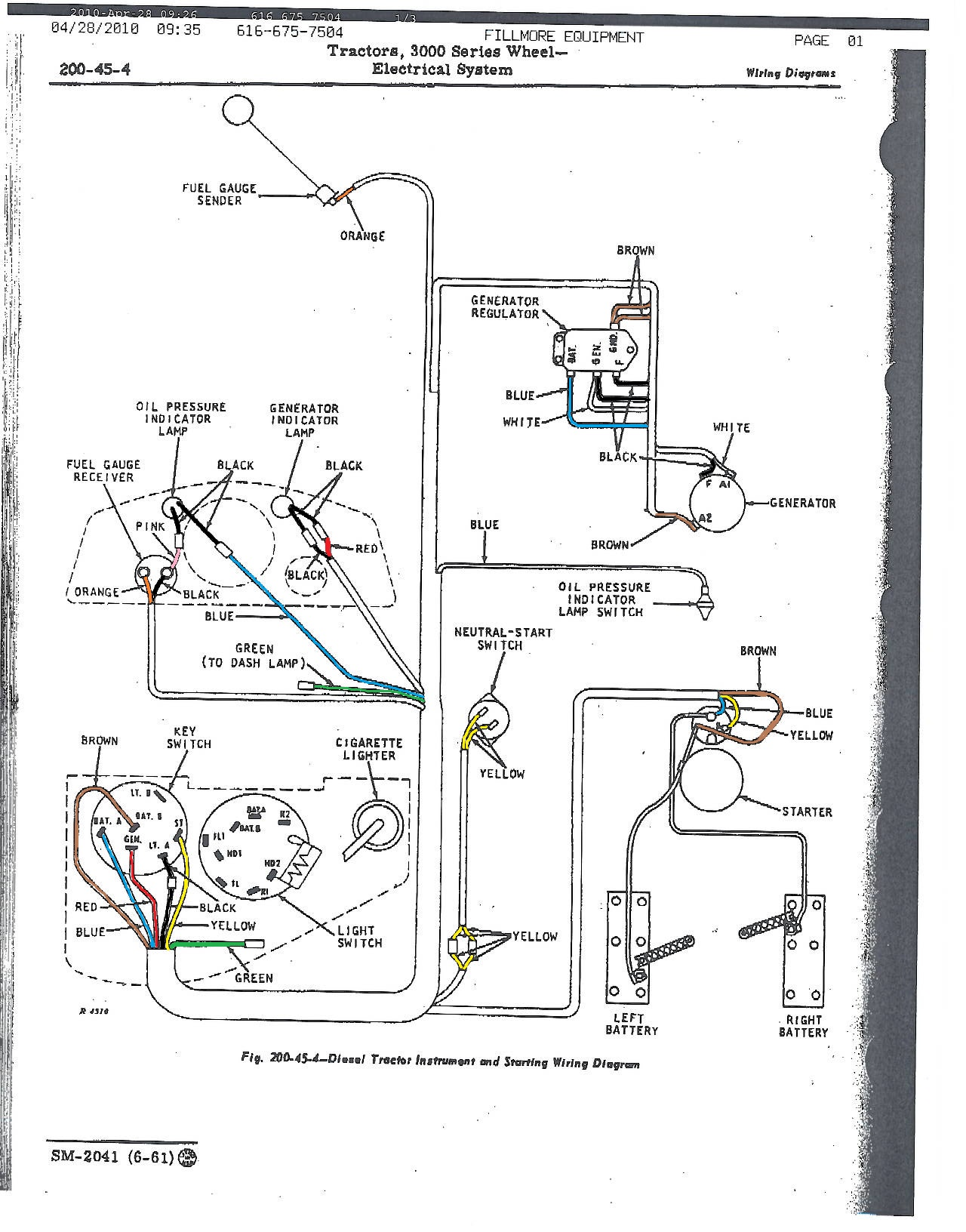 John Deere 3020 Ignition Wiring Diagram Free Download Manual E Books Tractor Switch 4020 Detailedjd 630 Electrical Schematic